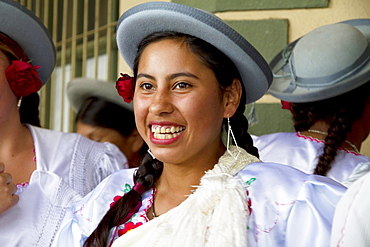 Chapaca at the festivities of the Dia de las Comadres during the Carnaval Chapaco, Tolomosa, Tarija, Bolivia