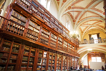 Public Library located in the former Church of the Fellowship of Jesus, Morelia, Michoacun, Mexico