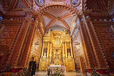 Interior of the Guadalupe Sanctuary, Morelia, Michoacun, Mexico