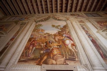 Fresco in the Main Hall of Villa Godi Malinverni by Andrea Palladio, Lonedo di Lugo, Italy