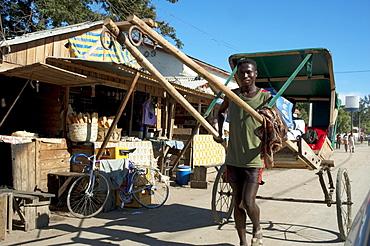 Pousse-pousse (Rickshaw) in Toliara, Madagascar