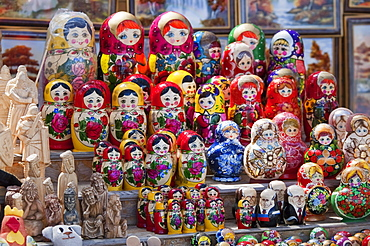 Russian dolls for sale in Trakai, Lithuania