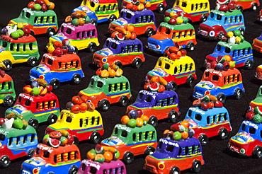 Toy buses, Chichicastenango, El Quichu, Guatemala