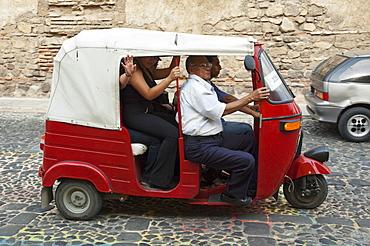 Auto rickshaw, Antigua, Sacatepuquez, Guatemala