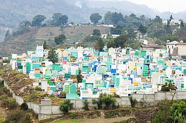 Cemetery, Panajachel, Sololu, Guatemala
