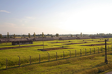 Men's barracks, Auschwitz-Birkenau Concentration Camp, Oswiecim, Malopolska, Poland