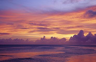 Micronesia, Sunset near Kwajalein Atoll.