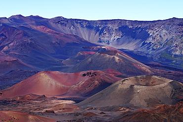Hawaii, Maui, Haleakala Crater, Haleakala National Park.