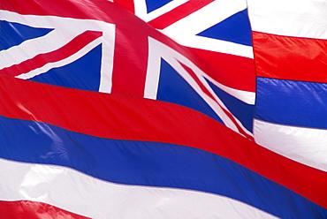 Hawaii, Close-up detail of Hawaiian flag