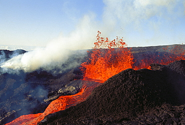 Hawaii, Big Island, Mauna Loa, Volcanic eruption