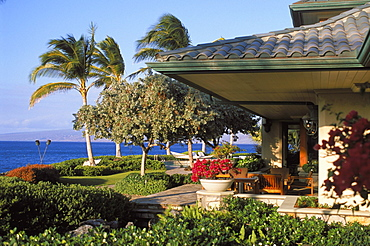 Hawaii, Big Island, North Kohala, Luxury home with ocean view on Kohala coast.