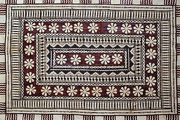 Hawaii, Hawaiian tapa cloth closeup of pattern, detail