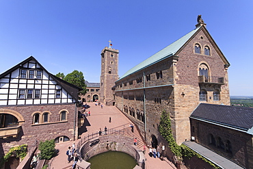 The Palas (Great Hall) and the keep of Wartburg Castle, Thuringia, Germany