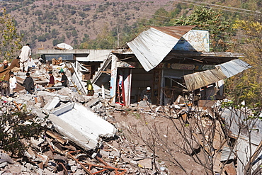 Bazaar Destroyed By The 8 October 2005 Earthquake, Chinari, Azad Kashmir, Pakistan