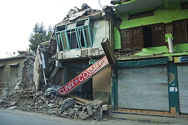 Rubble Of A Pharmacy Destroyed By The 8 October 2005 Earthquake, Muzaffarabad, Azad Kashmir, Pakistan