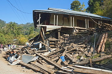 Home Destroyed By The 8 October 2005 Earthquake, Sudhangali, Azad Kashmir, Pakistan