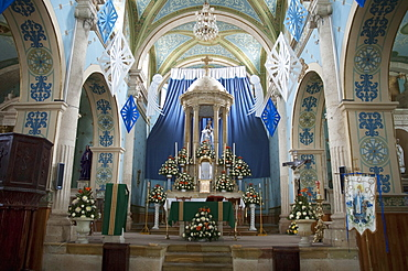 Main Altar Of The Temple Of Guadalupe, Asientos, Aguascalientes, Mexico