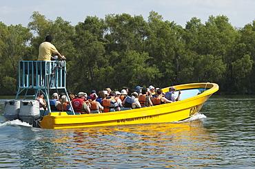 Tour Boat In The Grijalva River, Sumidero Canyon, Chiapas, Mexico