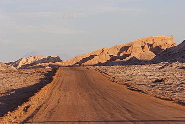 Road In The Moon Valley, San Pedro De Atacama, Antofagasta Region, Chile