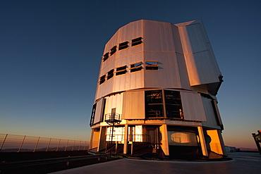 Southern Cross Unit Telescope 3, Belonging To The Very Large Telescope (Vlt) Operated By The European Southern Observatory On Cerro Paranal At Sunset, Antofagasta Region, Chile