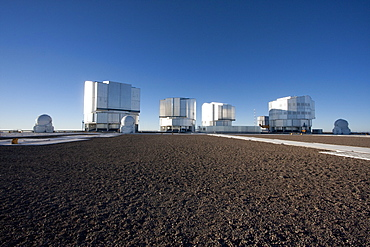 Sun Unit Telescope 1, Moon Unit Telescope 2, Southern Cross Unit Telescope 3, Venus Unit Telescope 4 Belonging To The Very Large Telescope (Vlt) Operated By The European Southern Observatory At Cerro Paranal, Antofagasta