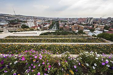 Panoramic views of Yerevan from the top of the Yerevan Cascade, Yerevan, Armenia