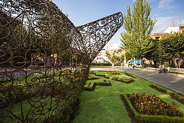 Tea Pavilion, sculpture by Joana Vasconcelos on display at the Cafesjian Museum of Art in the Yerevan Cascade, Yerevan, Armenia