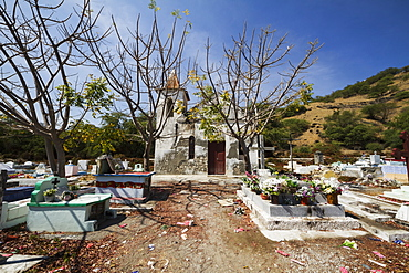 Tombs in the municipal cemetery, Manatuto, East Timor