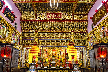 Main hall of the Lady Linshui Temple, Tainan, Taiwan