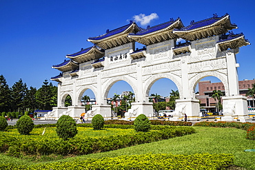 Gate to the Chiang Kai-shek Memorial Hall, Taipei, Taiwan