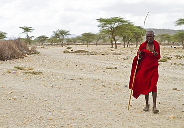 Old Samburu man, Samburu County, Kenya