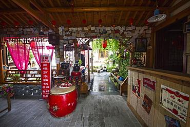 Interior of a hostel, Hongcun, Anhui, China
