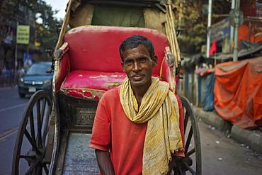 Rickshaw puller, Kolkata, West Bengal, India