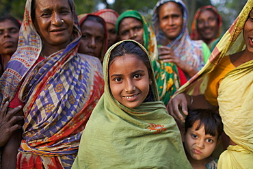 Bengali women and a child, Kishoreganj, Bangladesh
