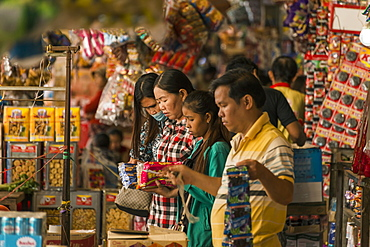 Shoppers and vendors at the Old Market, Battambang, Cambodia