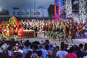 Dancers entertaining a crowd at the Calgary Stampede, Calgary, Alberta, Canada