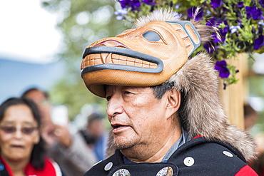 People at the Tlingit Celebration, Teslin, Yukon, Canada