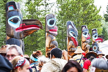 People at the Tlingit Celebration, Teslin, Yukon, Canada