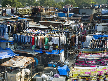 Mumbai boasts the world's largest open air laundromat, Dhobi Ghat, Mumbai, Maharashtra, India