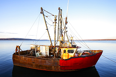 Old fishing vessel in the harbour, Digby, Nova Scotia, Canada
