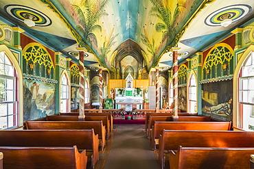 St. Benedict's Painted Church, Honaunau, Island of Hawaii, Hawaii, United States of America