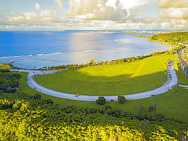 An aerial view of the War in the Pacific National Historical Park, Asan, Guam, Micronesia
