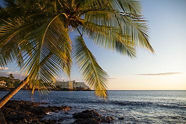 Hotel along Alii Drive, Kailua Bay, Kailua-Kona, Island of Hawaii, Hawaii, United States of America