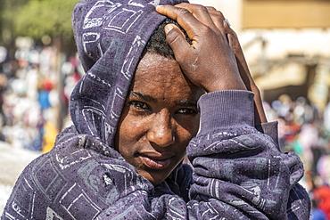 Eritrean boy at the open air market, Keren, Anseba Region, Eritrea