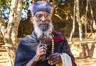 Ethiopian Orthodox priest, Wukro, Tigray Region, Ethiopia