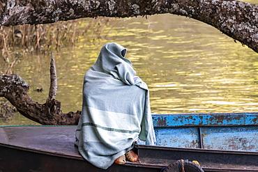 Ethiopian fisherman, Lake Tana, Amhara Region, Ethiopia