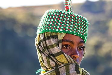 Ethiopian woman, Simien National Park,, Amhara Region, Ethiopia