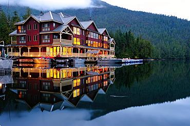 King Pacific Lodge, Great Bear Rainforest, British Columbia, Canada, North America