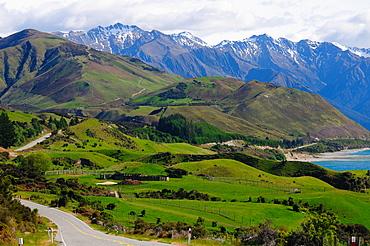 Highway to Milford Sound via Lake Tena Vu, South Island, New Zealand, Pacific