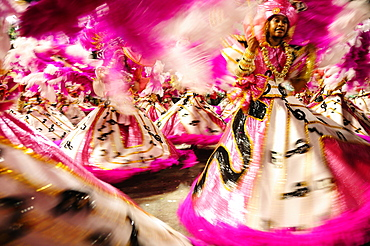 Dancers during the Rio Carnival, Rio de Janeiro, Brazil, South America